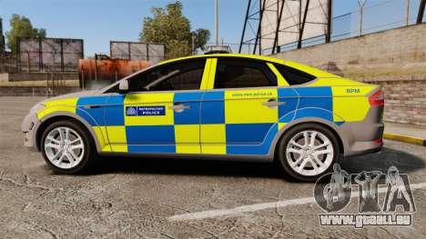 Ford Mondeo Metropolitan Police [ELS] pour GTA 4 est une gauche