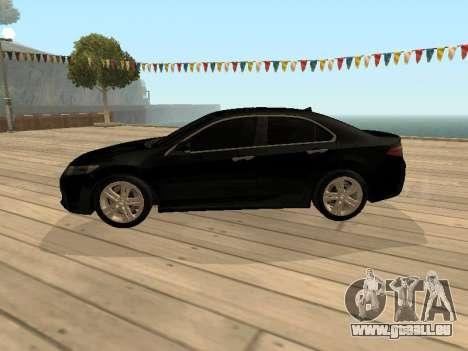 Honda Accord 2010 V2.0 pour GTA San Andreas sur la vue arrière gauche