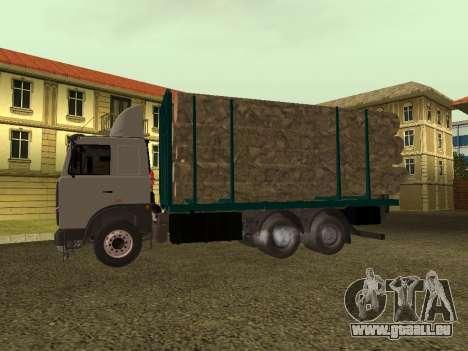 Transporteur de bois 6430 MAZ pour GTA San Andreas sur la vue arrière gauche