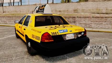 Ford Crown Victoria 1999 SF Yellow Cab für GTA 4 hinten links Ansicht