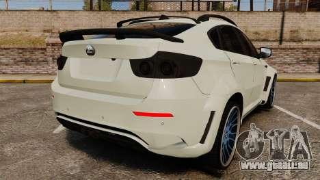 BMW X6 M HAMANN 2012 pour GTA 4 Vue arrière de la gauche
