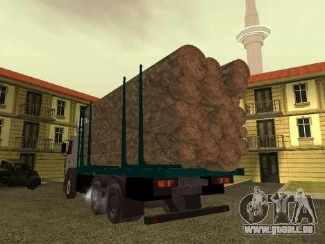 Transporteur de bois 6430 MAZ pour GTA San Andreas vue de droite