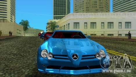 Mercedes-Benz SLR McLaren pour GTA Vice City sur la vue arrière gauche