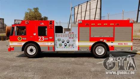 Division on Fire Columbus Firetruck [ELS] für GTA 4 linke Ansicht