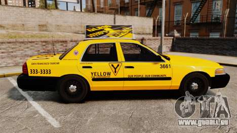Ford Crown Victoria 1999 SF Yellow Cab für GTA 4 linke Ansicht