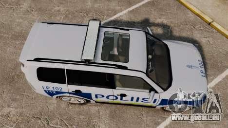 Mitsubishi Pajero Finnish Police [ELS] für GTA 4 rechte Ansicht