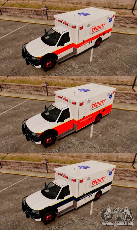 Landstalker L-350 Trinity EMS Ambulance [ELS] für GTA 4 Rückansicht