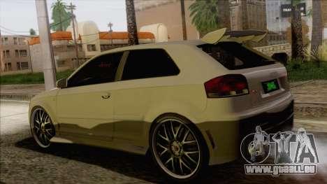 Audi S3 pour GTA San Andreas laissé vue