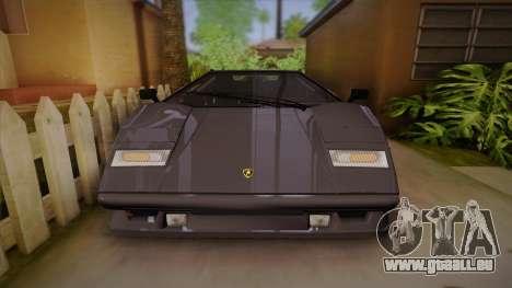 Lamborghini Countach 25th Anniversary pour GTA San Andreas vue de côté
