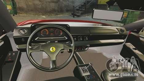 Ferrari Testarossa 1986 v1.1 pour GTA 4 Vue arrière