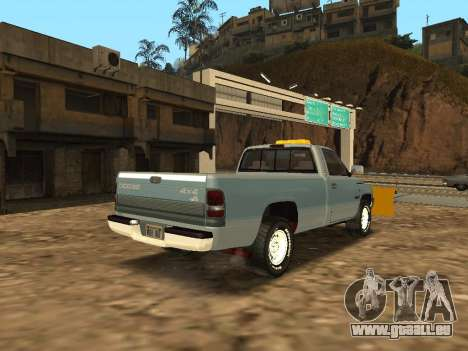 Dodge Ram für GTA San Andreas zurück linke Ansicht
