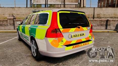 Volvo V70 Ambulance [ELS] für GTA 4 hinten links Ansicht
