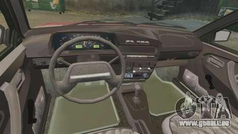 Vaz-2109 pour GTA 4 est une vue de l'intérieur