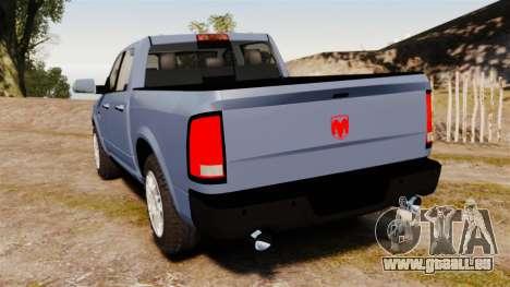Dodge Ram 2010 pour GTA 4 Vue arrière de la gauche