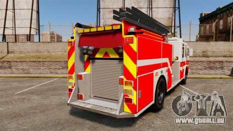 Firetruck Woonsocket [ELS] pour GTA 4 Vue arrière de la gauche