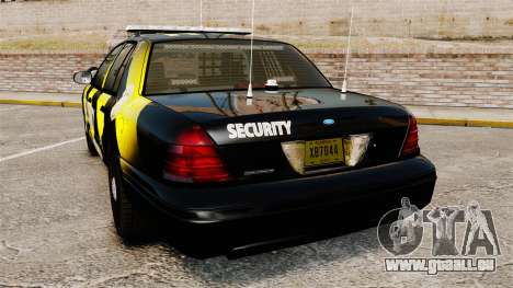 Ford Crown Victoria 2008 Security Patrol [ELS] für GTA 4 hinten links Ansicht