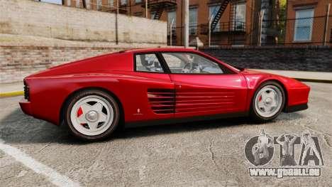 Ferrari Testarossa 1986 v1.1 pour GTA 4 est une gauche