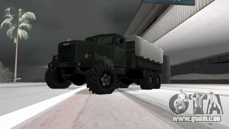 KrAZ 257 pour GTA Vice City sur la vue arrière gauche