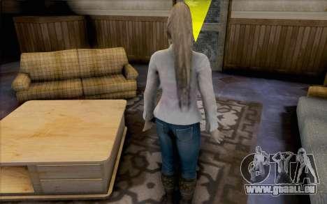 Sarah aus Dead or Alive 5 für GTA San Andreas dritten Screenshot