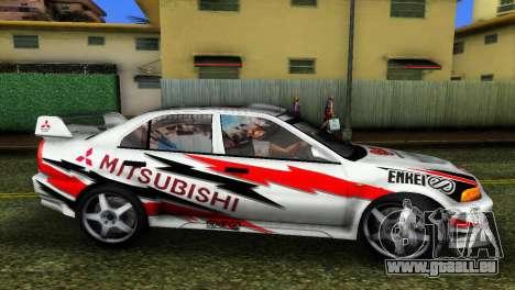 Mitsubishi Lancer Rally pour GTA Vice City sur la vue arrière gauche