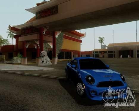 MINI Cooper S 2012 pour GTA San Andreas laissé vue