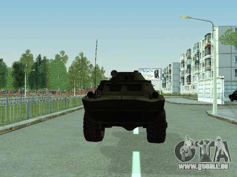 BRDM 2 pour GTA San Andreas sur la vue arrière gauche