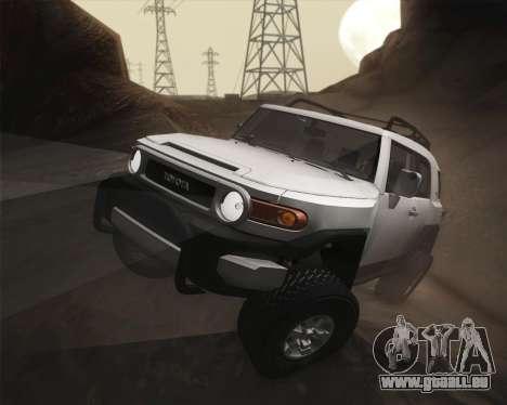 Toyota FJ Cruiser 2012 pour GTA San Andreas vue de côté
