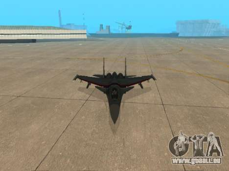 Su 33 pour GTA San Andreas vue de dessous