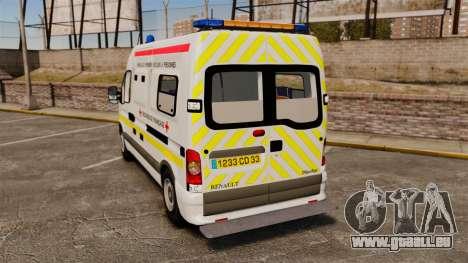 Renault Master French Red Cross [ELS] für GTA 4 hinten links Ansicht