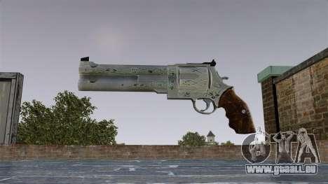 Revolver-bleu Rose- pour GTA 4 troisième écran