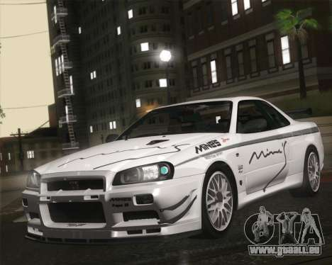 Nissan Skyline Mines R34 2002 für GTA San Andreas
