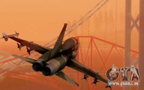 F-5 Tiger II für GTA San Andreas linke Ansicht