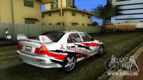 Mitsubishi Lancer Rally pour une vue GTA Vice City de la gauche