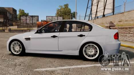 BMW M3 Unmarked Police [ELS] pour GTA 4 est une gauche