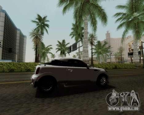 MINI Cooper S 2012 pour GTA San Andreas vue de côté