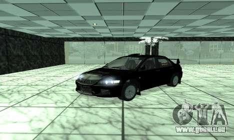 Mitsubishi Lancer Evo 9 pour GTA San Andreas laissé vue