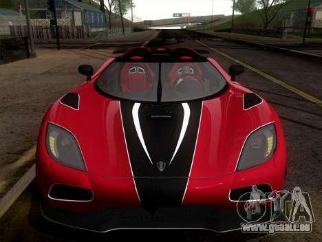 Koenigsegg Agera R 2011 für GTA San Andreas zurück linke Ansicht