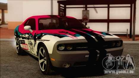 Dodge Challenger SRT8 2012 HEMI pour GTA San Andreas vue intérieure