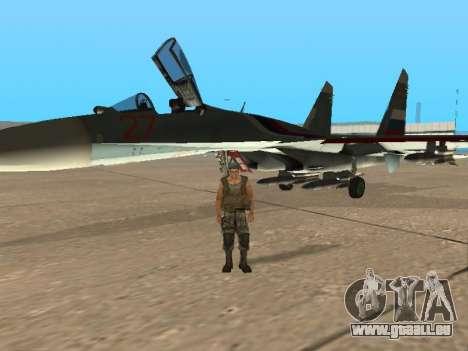Su-33 für GTA San Andreas Innen