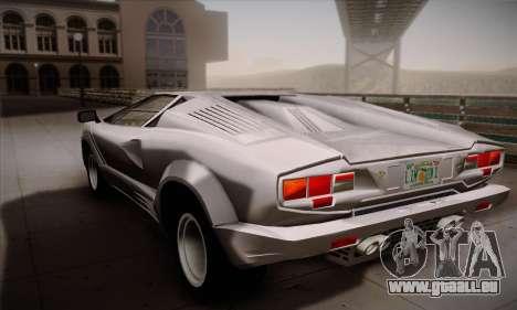 Lamborghini Countach 25th Anniversary pour GTA San Andreas laissé vue