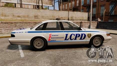 Vapid Police Cruiser v2.0 für GTA 4 linke Ansicht