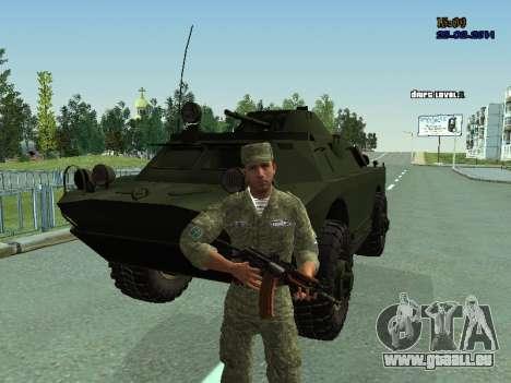BRDM 2 pour GTA San Andreas vue de côté