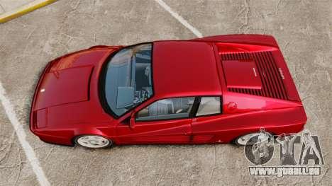 Ferrari Testarossa 1986 v1.1 für GTA 4 rechte Ansicht