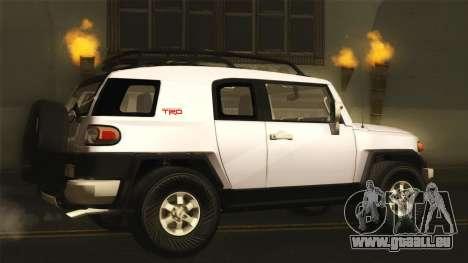 Toyota FJ Cruiser 2012 pour GTA San Andreas laissé vue