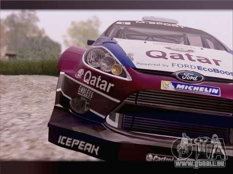 Ford Fiesta RS WRC 2013 pour GTA San Andreas vue de droite