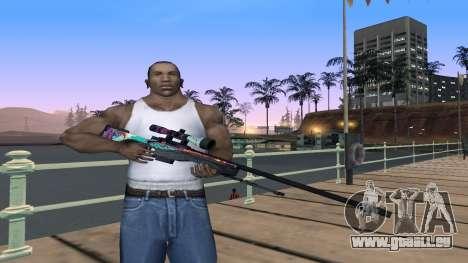 AWP from CS GO Gentleman pour GTA San Andreas deuxième écran