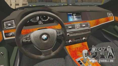 BMW 550i Metropolitan Police [ELS] für GTA 4 Innenansicht