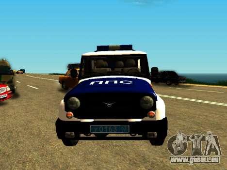 UAZ Hunter-PPP für GTA San Andreas Rückansicht