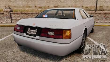 Admial Unmarked Police v1.4 [ELS] pour GTA 4 Vue arrière de la gauche