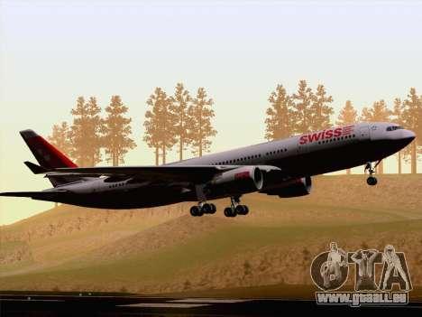 Airbus A330-223 Swiss International Airlines für GTA San Andreas Rückansicht